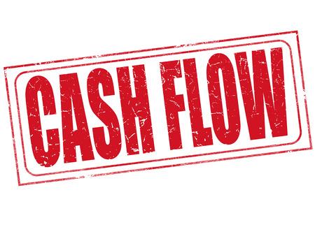 cash flows: grunge stamp with text on cash flow vector illustration Illustration