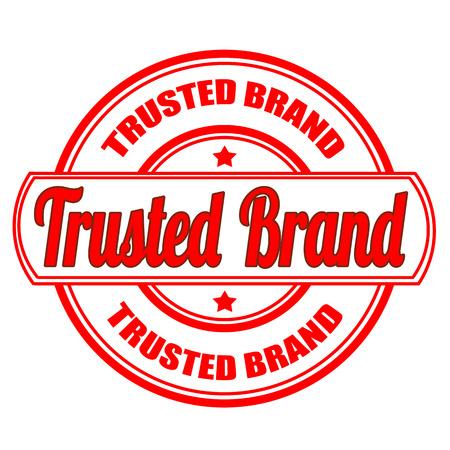 prin: sello de la etiqueta con el texto de confianza de la marca en la ilustraci�n vectorial