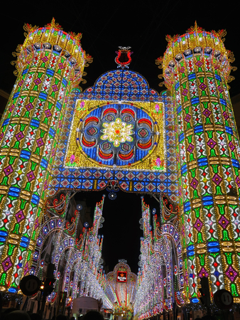 fallas: Valencia celebrates spring arrival with Fallas festival. The city is decorated with lights, colorful statues and fireworks.