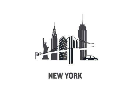 città di New York. Illustrazione vettoriale piatto minimalista.