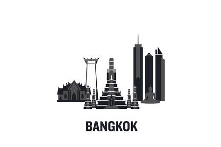 Bangkok art design concept. Flat vector illustration.