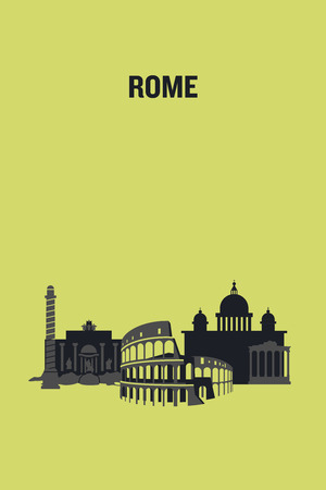 Rome art design concept. Flat vector illustration. 일러스트