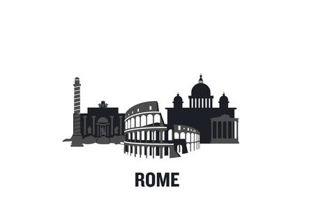 Rome art design concept. Flat vector illustration. Ilustração