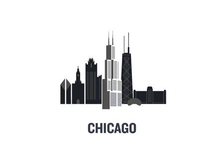 Chicago art design concept. Flat vector illustration.