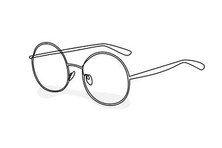 Illustration round glasses