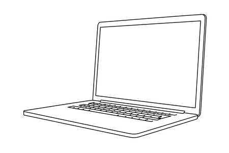 Illustration laptop. Perspective view.