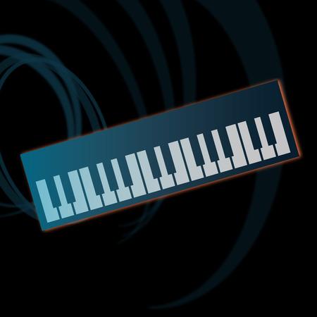 Flat vector illustration of piano keyboard.