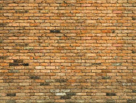 Gedetailleerde oude gele bakstenen muur achtergrond fototextuur