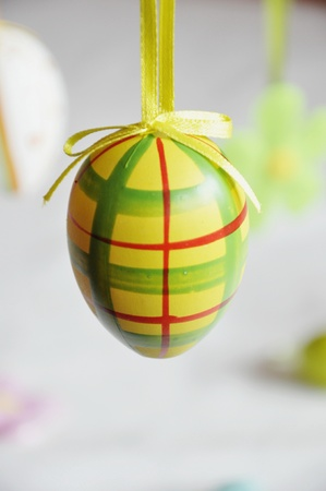easter tree: Colored egg hanged on an easter tree