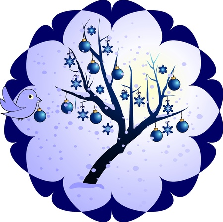 winter tree Stock Vector - 11374909