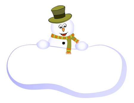 Card with funny snowman Vector