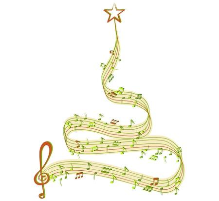 partition musique: L'arbre d'hiver de la musique Illustration