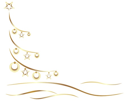 gold winter tree