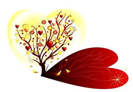 Valentine tree with hearts Stock Vector - 11623181