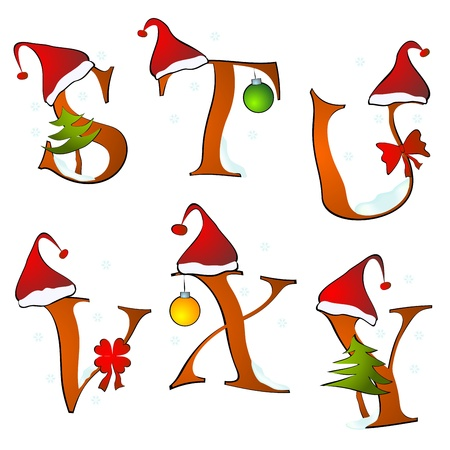 christmas alphabet set letters winter S -Y Stock Vector - 11623198