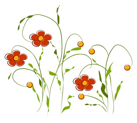 yellow flower: Flowers Illustration
