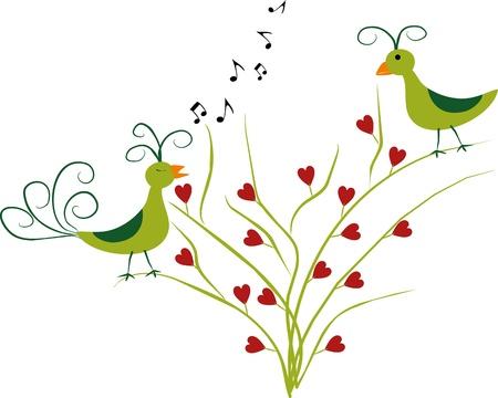 love birds Stock Vector - 11939082