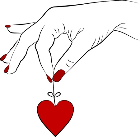 woman hand with a red heart Stock Photo - 12418416