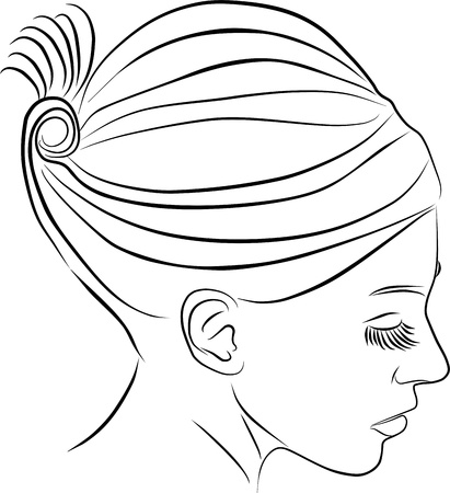 perfil de mujer rostro: el perfil de mujer joven