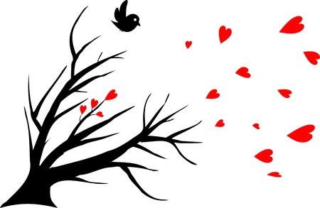 alone bird: bird alone, symbol of a lost love