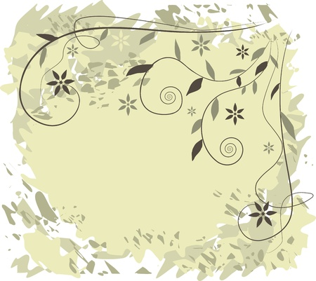 Floral background - vector illustration Vector