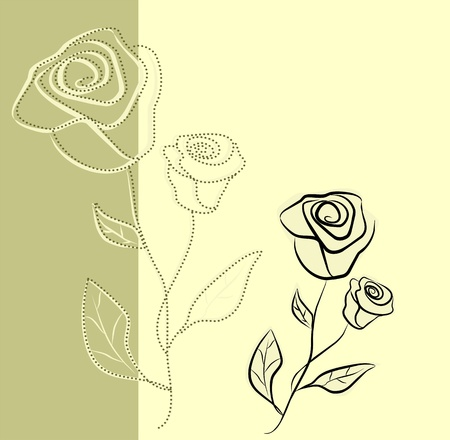 Floral background with roses, vector illustration Illustration