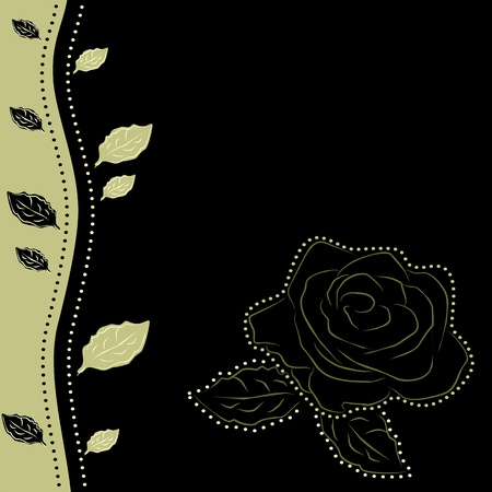 Floral background with one rose, vector illustration