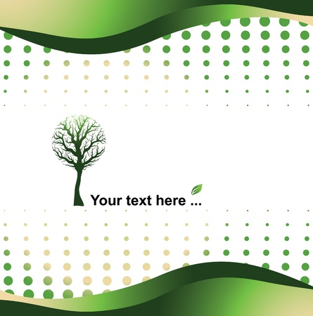 green background - eco concept, vector illustration Vector