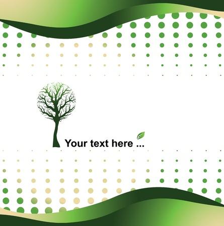 green background - eco concept, vector illustration Illustration