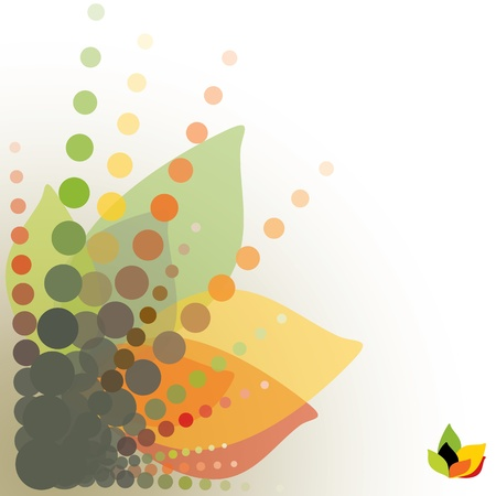 abstract floral background, vector illustration Illustration