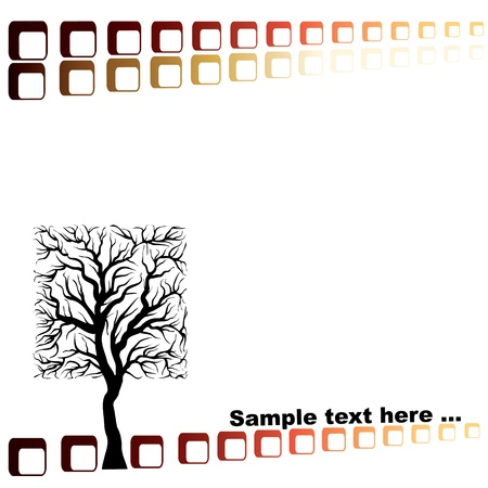 eco concept on a white background, square tree