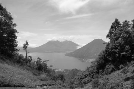 san pedro: view on lake of atitlan - guatemala
