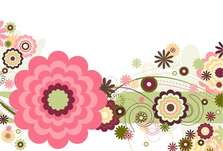 Floral Breeze Vector