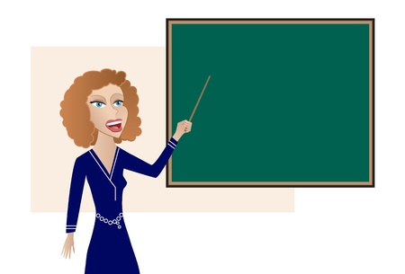 Teacher at the Blackboard Stock Vector - 9792444