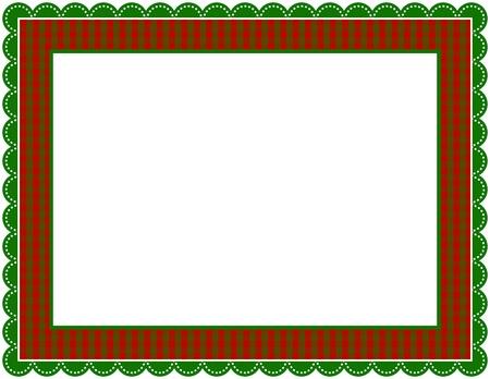 Christmas Gingham Frame 일러스트