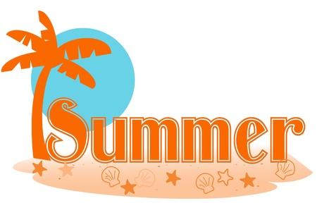 Summer text Иллюстрация