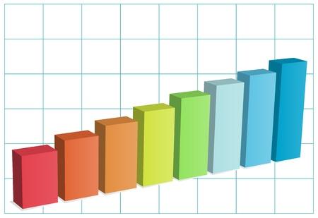 hoja cuadriculada: Bar chart on graph paper Vectores