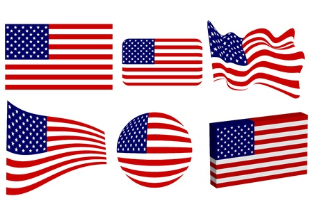 star spangled: American Flag Set