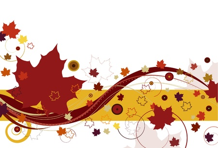 Autumn Leaves in Red Stock Vector - 9918206