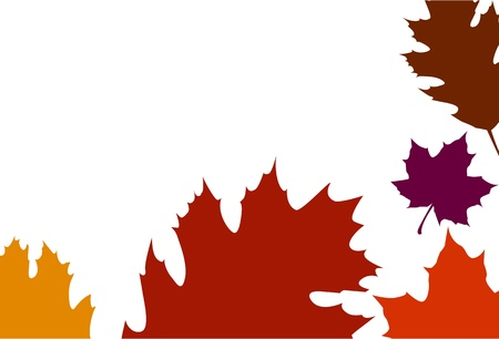 Oak Leaf border Vector