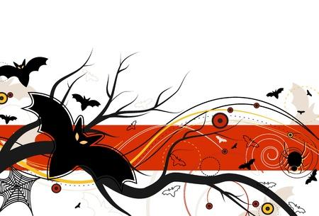 halloween spider: Bat Flight on Halloween