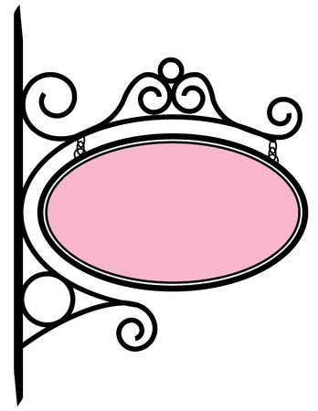 scroll border: Bistro Sign