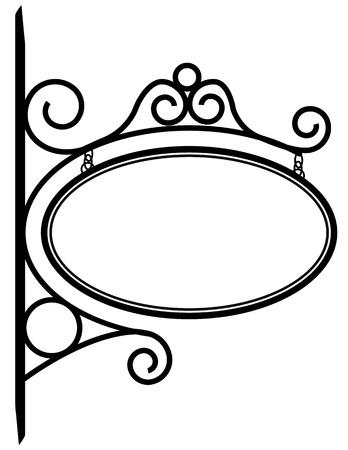 uithangbord: Bistro teken Stock Illustratie