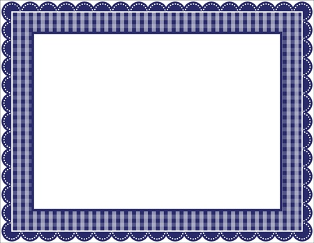 Gingham Frame Stock Vector - 9919700