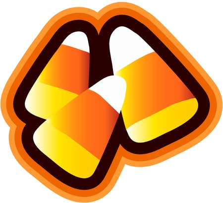 Candy Corn Isolated Vector
