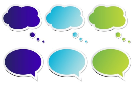 thought: Chat Bubbles Illustration