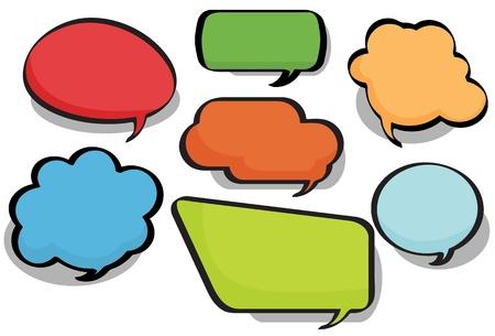 Chat Bubbles Vettoriali