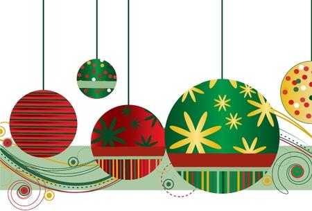 빨강 및 녹색의 크리스마스 장식품 스톡 콘텐츠 - 9919305