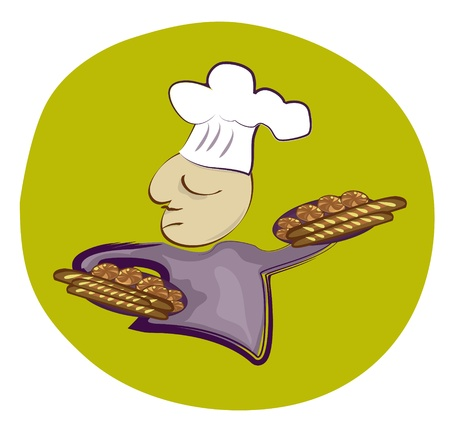 French Baker Vector