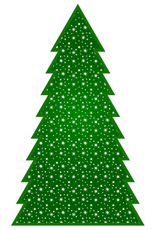Country Christmas Tree Vector